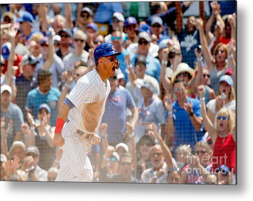 Second Inning Metal Print featuring the photograph Kyle Schwarber and Willson Contreras by Jon Durr