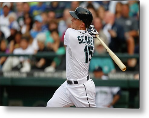 Second Inning Metal Print featuring the photograph Kyle Seager by Otto Greule Jr