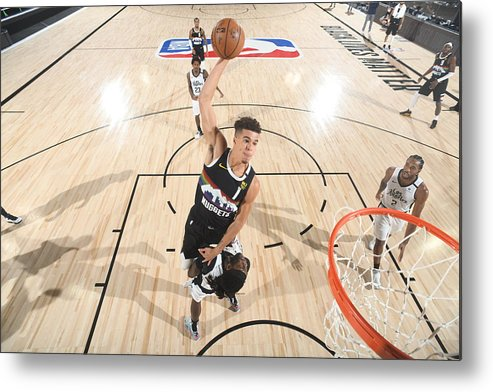 Playoffs Metal Print featuring the photograph LA Clippers v Denver Nuggets - Game Three by Andrew D. Bernstein