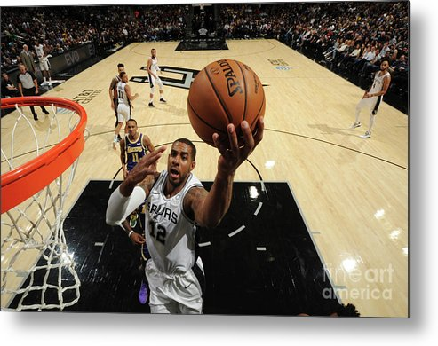 Nba Pro Basketball Metal Print featuring the photograph Lamarcus Aldridge by Bill Baptist
