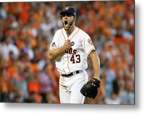 Three Quarter Length Metal Print featuring the photograph Lance Mccullers by Bob Levey