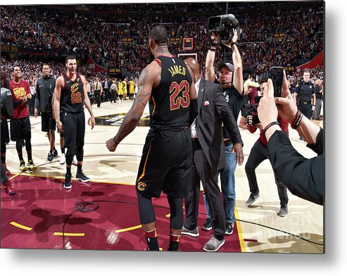 Playoffs Metal Print featuring the photograph Larry Nance and Lebron James by David Liam Kyle