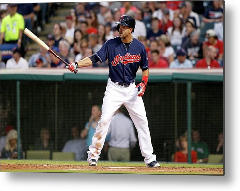 American League Baseball Metal Print featuring the photograph Lonnie Chisenhall by David Maxwell