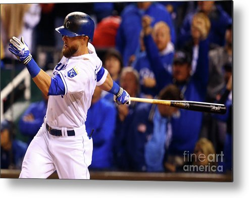 People Metal Print featuring the photograph Lorenzo Cain, Alex Gordon, and Wei-yin Chen by Dilip Vishwanat
