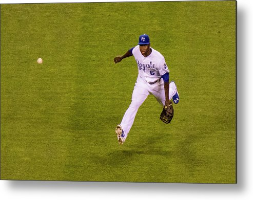 People Metal Print featuring the photograph Lorenzo Cain and Joey Gallo by Kyle Rivas