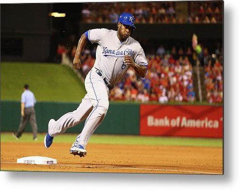 American League Baseball Metal Print featuring the photograph Lorenzo Cain by Dilip Vishwanat