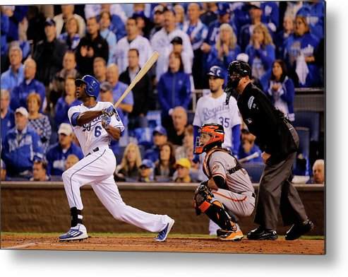 Second Inning Metal Print featuring the photograph Lorenzo Cain by Doug Pensinger