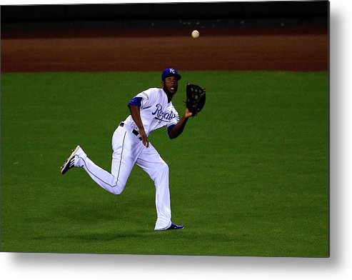 People Metal Print featuring the photograph Lorenzo Cain by Jamie Squire