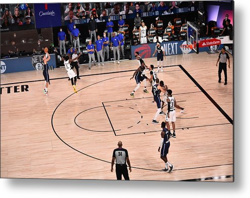 Playoffs Metal Print featuring the photograph Los Angeles Clippers v Dallas Mavericks - Game Four by David Dow