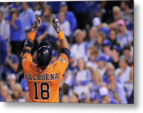 Second Inning Metal Print featuring the photograph Luis Valbuena by Ed Zurga