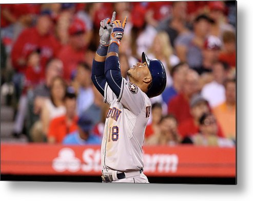 People Metal Print featuring the photograph Luis Valbuena by Stephen Dunn