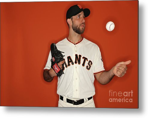 Media Day Metal Print featuring the photograph Madison Bumgarner by Patrick Smith
