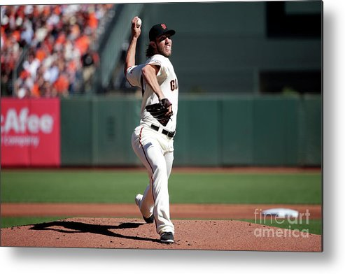 San Francisco Metal Print featuring the photograph Madison Bumgarner by Pool