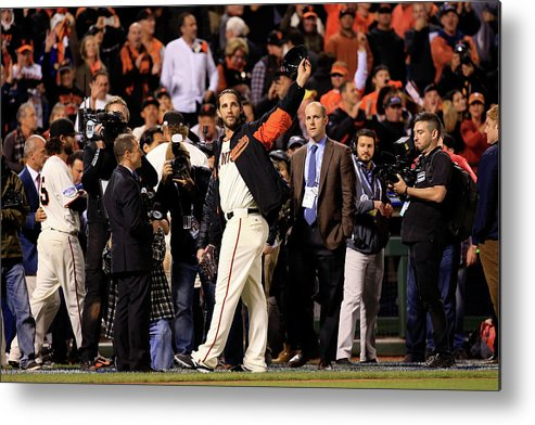 Crowd Metal Print featuring the photograph Madison Bumgarner by Rob Carr