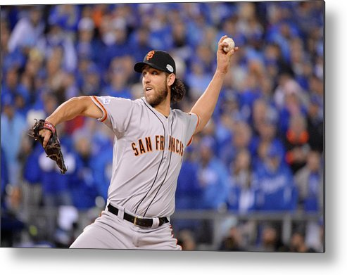 Playoffs Metal Print featuring the photograph Madison Bumgarner by Ron Vesely