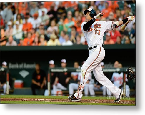 Second Inning Metal Print featuring the photograph Manny Machado by Patrick Mcdermott