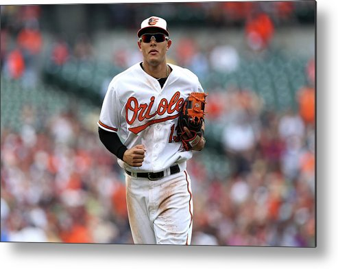 Three Quarter Length Metal Print featuring the photograph Manny Machado by Patrick Smith