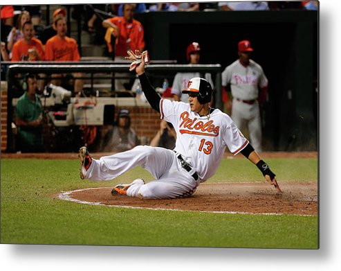 People Metal Print featuring the photograph Manny Machado by Rob Carr
