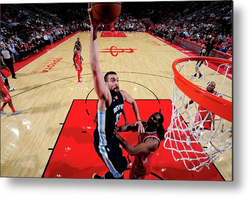 Nba Pro Basketball Metal Print featuring the photograph Marc Gasol by Bill Baptist