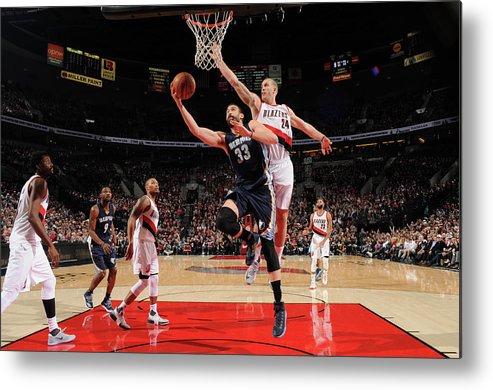 Nba Pro Basketball Metal Print featuring the photograph Marc Gasol by Cameron Browne