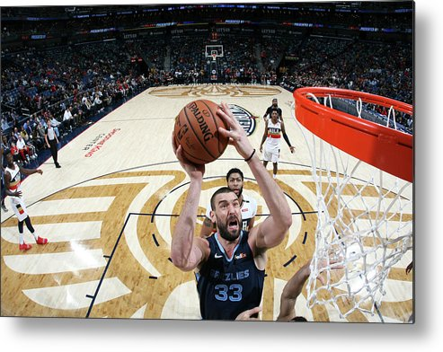 Smoothie King Center Metal Print featuring the photograph Marc Gasol by Layne Murdoch Jr.