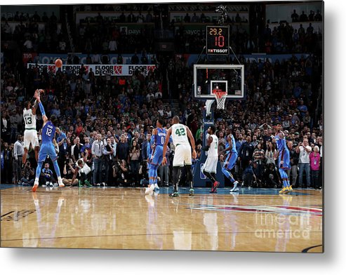Nba Pro Basketball Metal Print featuring the photograph Marcus Morris by Zach Beeker