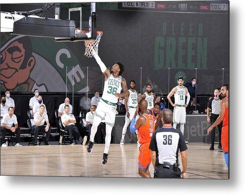 Nba Pro Basketball Metal Print featuring the photograph Marcus Smart by David Sherman