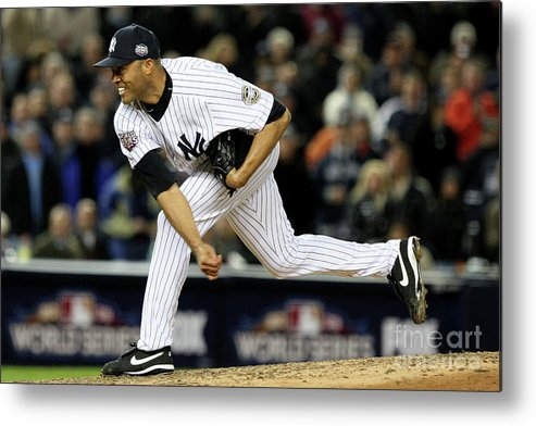 American League Baseball Metal Print featuring the photograph Mariano Rivera by Jed Jacobsohn