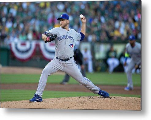 American League Baseball Metal Print featuring the photograph Mark Buehrle by Jason O. Watson