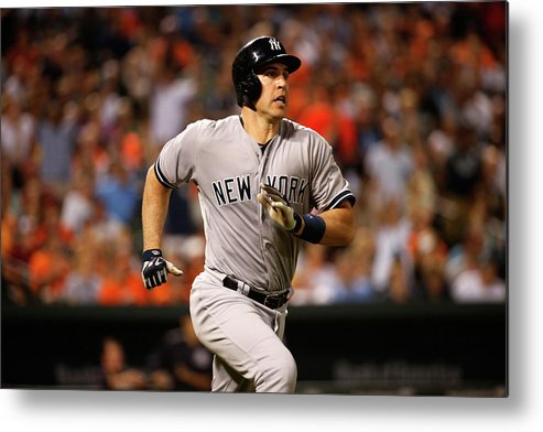 Following Metal Print featuring the photograph Mark Teixeira by Rob Carr
