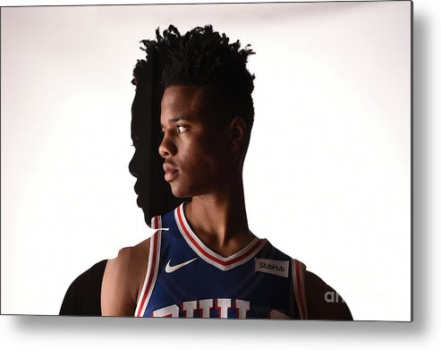 Nba Pro Basketball Metal Print featuring the photograph Markelle Fultz by Brian Babineau