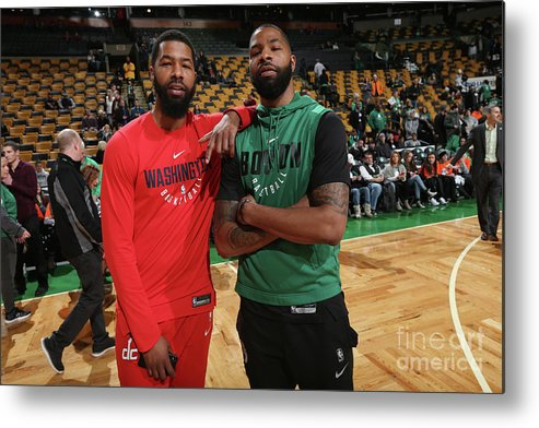 Nba Pro Basketball Metal Print featuring the photograph Markieff Morris and Marcus Morris by Ned Dishman