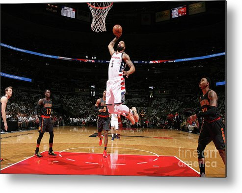 Playoffs Metal Print featuring the photograph Markieff Morris by Ned Dishman