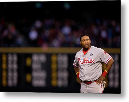 Marlon Byrd Metal Print featuring the photograph Marlon Byrd by Justin Edmonds
