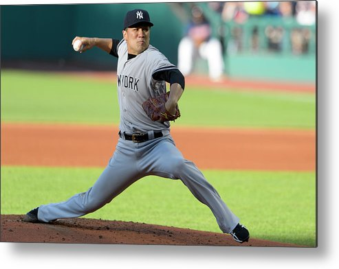 American League Baseball Metal Print featuring the photograph Masahiro Tanaka by Jason Miller