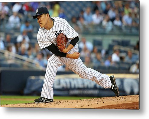 Second Inning Metal Print featuring the photograph Masahiro Tanaka by Mike Stobe