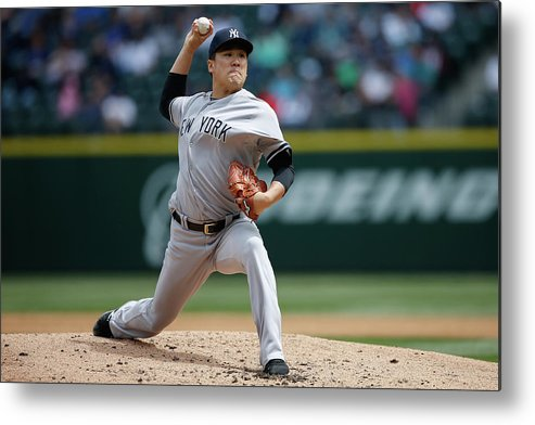 Second Inning Metal Print featuring the photograph Masahiro Tanaka by Otto Greule Jr