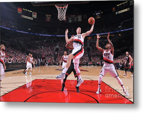 Nba Pro Basketball Metal Print featuring the photograph Mason Plumlee by Sam Forencich