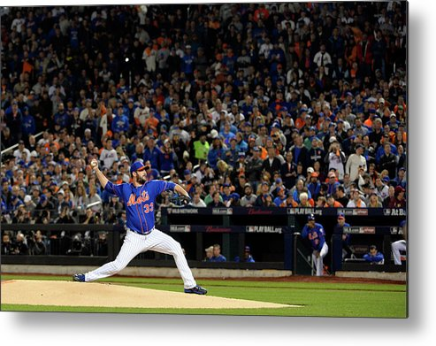 Matt Harvey Metal Print featuring the photograph Matt Harvey by Ron Vesely