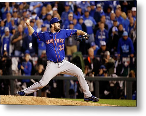 Matt Harvey Metal Print featuring the photograph Matt Harvey by Sean M. Haffey