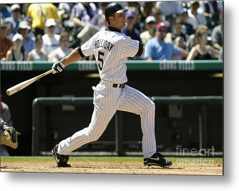 Motion Metal Print featuring the photograph Matt Holliday by Brian Bahr