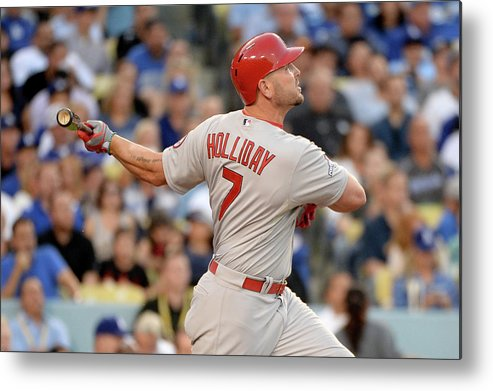 St. Louis Cardinals Metal Print featuring the photograph Matt Holliday by Harry How