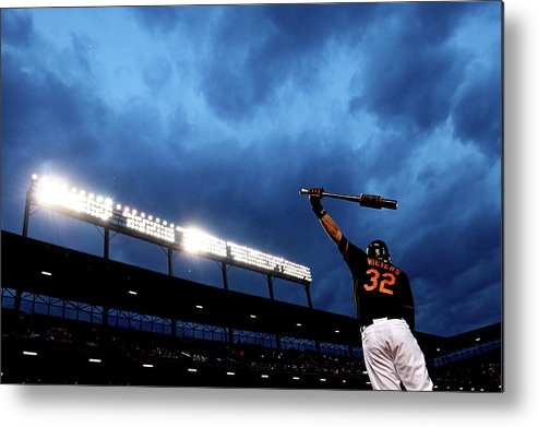 American League Baseball Metal Print featuring the photograph Matt Wieters by Patrick Smith