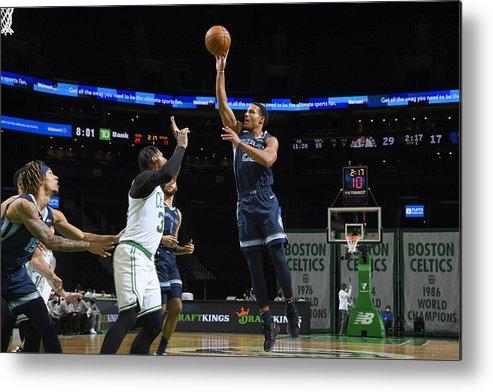 Nba Pro Basketball Metal Print featuring the photograph Memphis Grizzlies v Boston Celtics by Brian Babineau