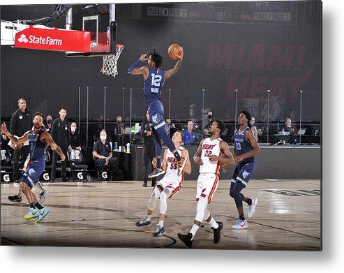 Nba Pro Basketball Metal Print featuring the photograph Memphis Grizzlies v Miami Heat by Joe Murphy