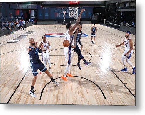 Nba Pro Basketball Metal Print featuring the photograph Memphis Grizzlies v Philadelphia 76ers by Joe Murphy