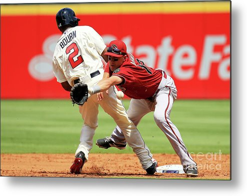 Atlanta Metal Print featuring the photograph Michael Bourn and Nick Ahmed by Daniel Shirey
