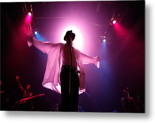 People Metal Print featuring the photograph Michael Jackson Cover Band Plays DC 9:30 Club by Chip Somodevilla