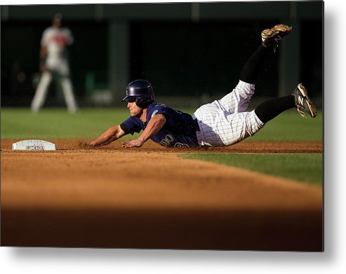 Second Inning Metal Print featuring the photograph Michael Mckenry by Justin Edmonds