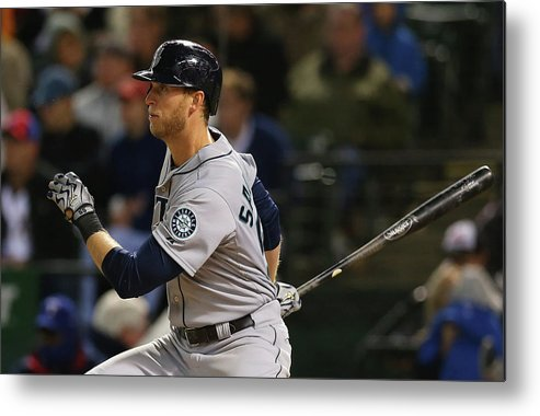 American League Baseball Metal Print featuring the photograph Michael Saunders by Ronald Martinez
